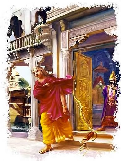 Видура покидает дворец Дхритараштры